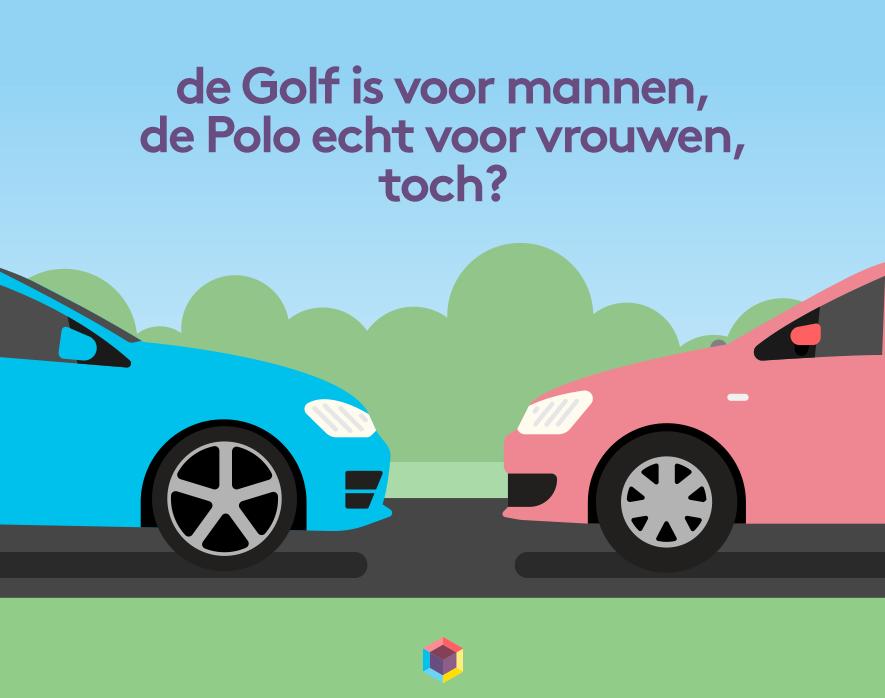 Golf voor mannen, Polo voor vrouwen