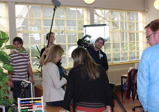 Opnames Webmee.tv met Froukje de Both