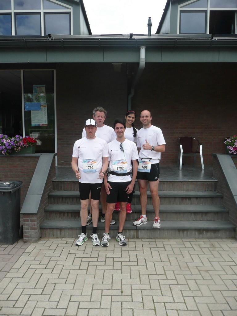 Team foto voor de start