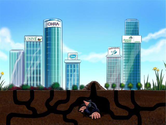 Independer.nl als mol verstopt onder de grond
